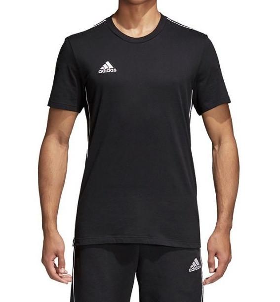 Мужская чёрная фирменная футболка adidas Core 18 CE9063