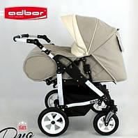 Детская универсальная коляска для двойни 2в1 Adbor Duo stars (D-01 - Бежевая)