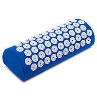 Валик массажный Ипликатор Кузнецова, пластик, полиэстер, поролон, р-р 40x10x14см, синий (FI-1710)