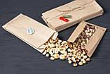 Крафт пакет с окном 180*50*275 мм бумажный пакет с прозрачной вставкой, фото 5