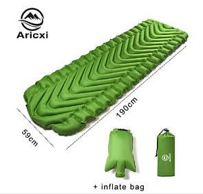 Туристический надувной коврик, матрас Aricxi V (волна) Туристичний надувний коврик, матрац, каремат.