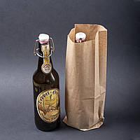 Крафт пакеты для бутылок 100 мм*40 мм*320 мм