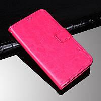 Чехол Idewei для ZTE Blade A6 Lite книжка с визитницей розовый