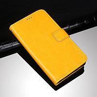 Чехол Idewei для ZTE Blade A6 Lite книжка с визитницей желтый
