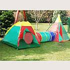 Детская игровая палатка Ecotoys Iglo 3 in 1 домики, туннели для детей, фото 2