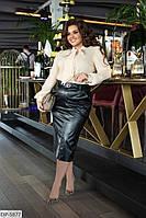 Женская блуза с элегантным бантом  р. 58, 60, 62, фото 1