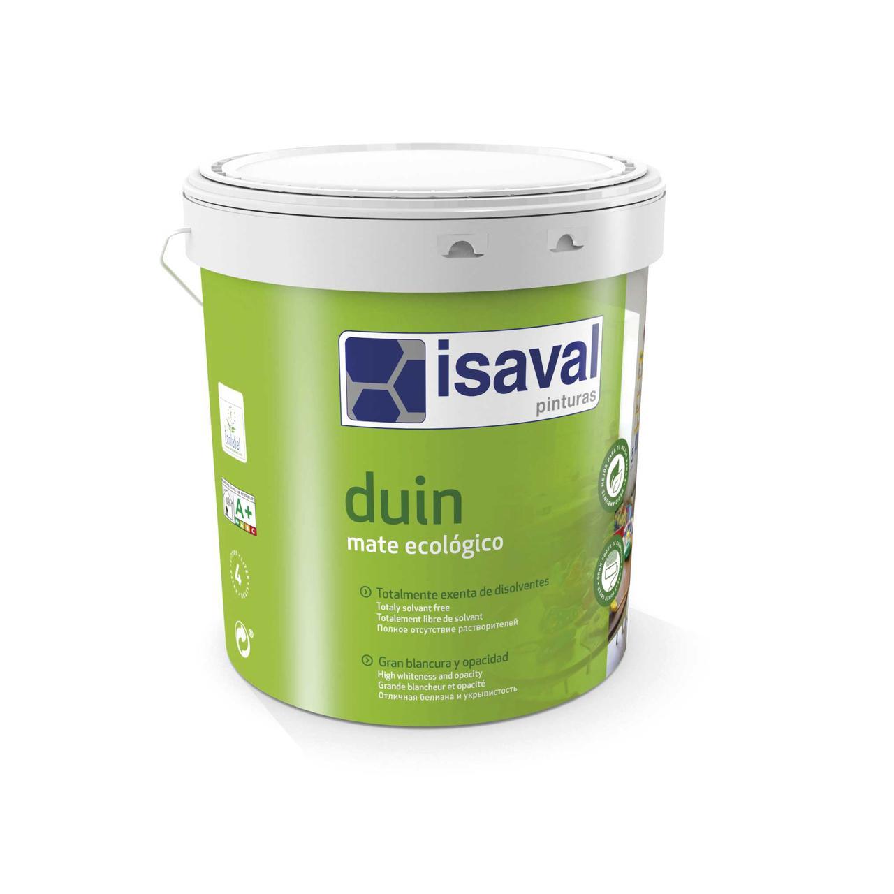 Краска матовая гипоаллергенная ДУИН ISAVAL 4л до 64м2/слой