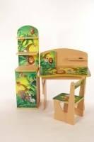 """Комплект детской мебели Baby Elit: парта, стул и этажерка """"Африка"""""""