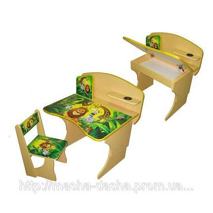 """Комплект детской мебели Baby Elit: парта, стул и этажерка """"Африка"""", фото 2"""