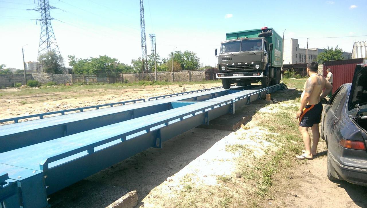 Бесфундаментные автомобильные весы - 20 м , на 80 тонн ( металлическая платформа)
