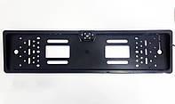 Рамка под номер пластик black с камерой заднего вида SCK-111
