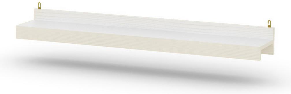 Полка П-22 нимфея альба (белый) КОМПАНИТ (120х19х12 см)