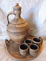 Глиняний набір для вина 2л