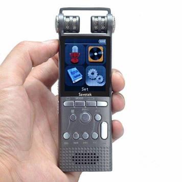 Професійний цифровий диктофон з лінійним входом Savetek GS-R06 8 Гб пам'яті Сірий (100084)