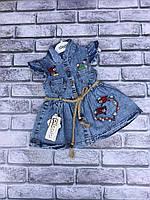 Стильный джинсовый сарафан на девочку 9-24 лет