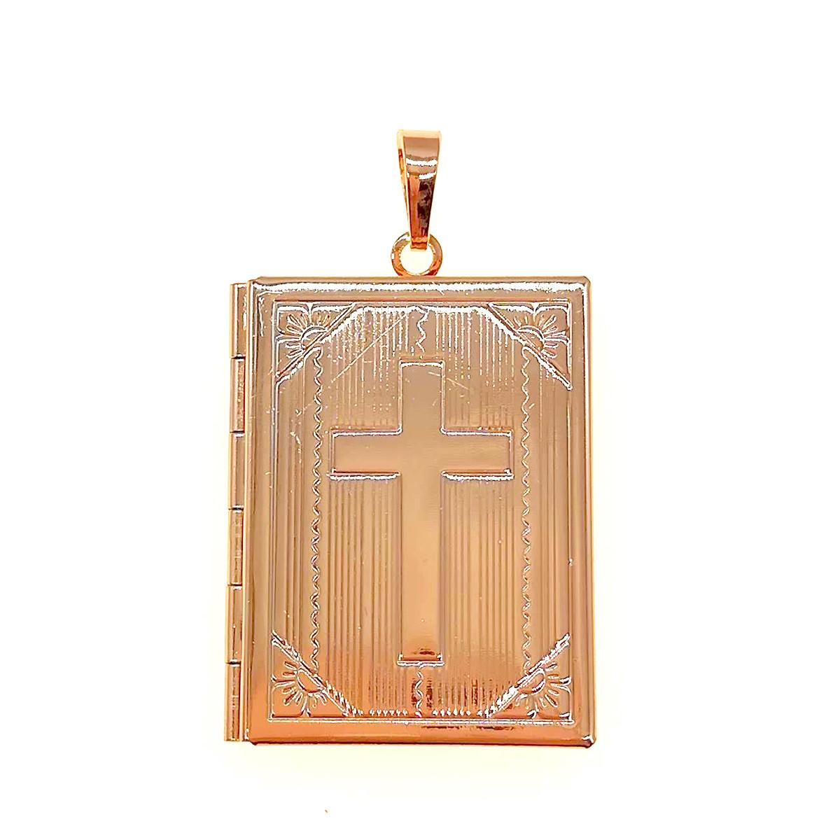 Медальйон-книжка Xuping из медицинского золота, позолота 18K, 42409       (1)