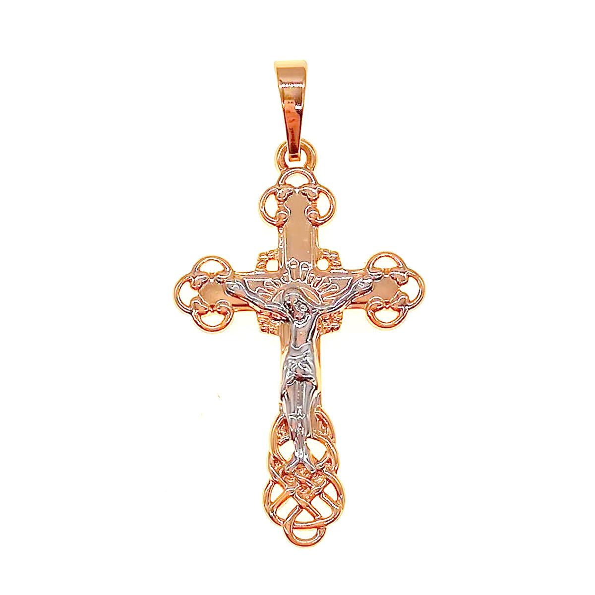 Крестик Xuping из медицинского золота, позолота 18K + родий, 42424       (1)