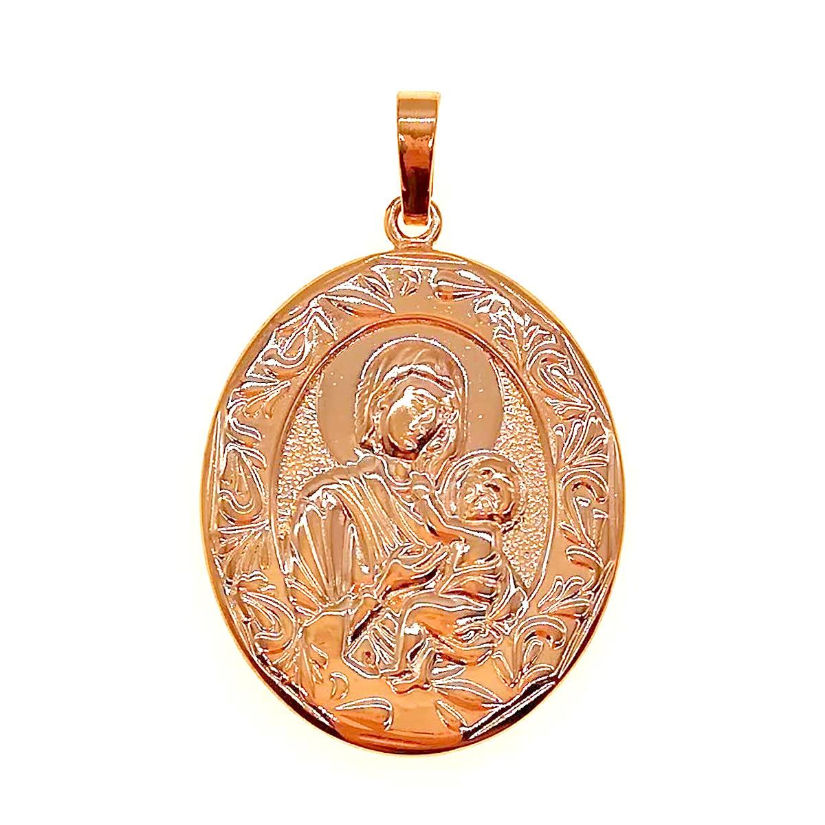 """Иконка Xuping """"Божия Матерь"""" из медицинского золота, позолота 18K, 42448 (1)"""