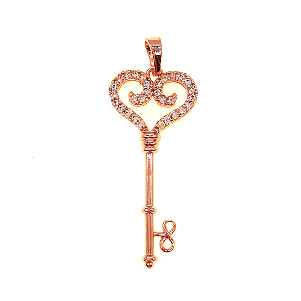 """Підвіска Xuping """"Ключик"""" з медичного золота, фіаніти, позолота PO, 42435 (1)"""