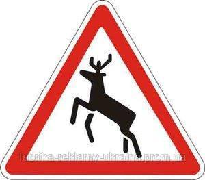 Дорожный знак 1.36 - Дикие животные. Предупреждающие знаки. ДСТУ