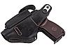 Кобура для ПМ - пистолет Макарова, поясная с чехлом подсумком под магазин, не формованная (кожаная, черная), фото 2