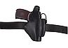 Кобура для ПМ - пистолет Макарова, поясная с чехлом подсумком под магазин, не формованная (кожаная, черная), фото 4