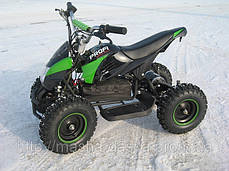 Детский квадроцикл Profi HB - 6 EATV 500W черно-зеленый с фарой, фото 2