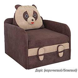 Дитячий розкладний диван Юніор Панда Доріс (коричневий/бежевий) Меблі-сервіс