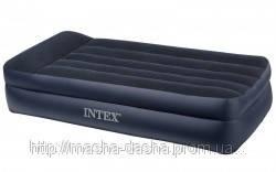 Надувной матрас кровать велюр Intex 66721, размер 99х191х50 см, без встроенного насоса, фото 2