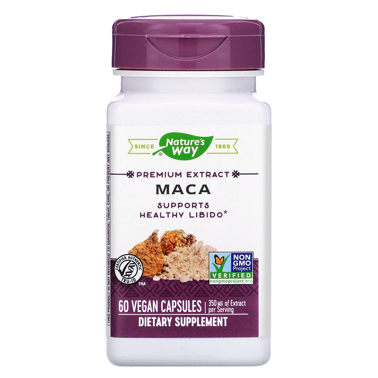 "Экстракт маки Nature's Way ""Maca Premium Extract"" 350 мг (60 капсул)"