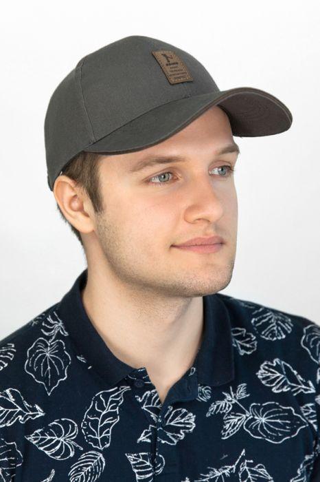 Мужская кепка «Ediko»,серого цвета