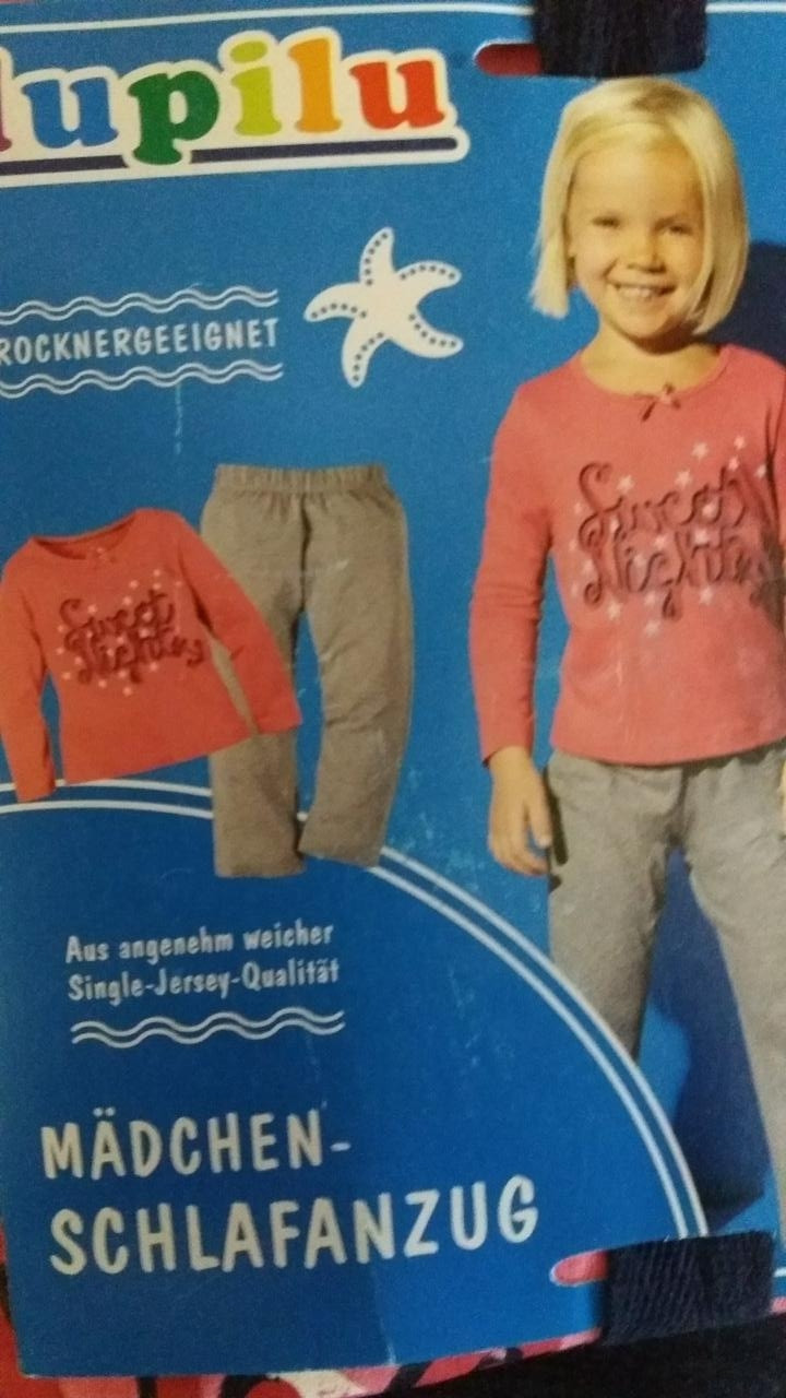 Пижама трикотажная для девочки, размеры 110/116(3шт), Lupilu, арт. 776074