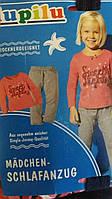 Пижама трикотажная для девочки, размеры 110/116(3шт), Lupilu, арт. 776074, фото 1