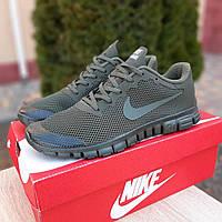 Мужские кроссовки Nike Free Run 3.0 хаки. Живое фото. Реплика