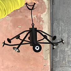 Люстра в современном исполнении (56-LPR0235-10 BK+BR), фото 3