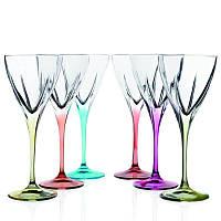 Набор цветных бокалов для вина RCR 690020 6 шт. 250 мл. FUSION COLOUR