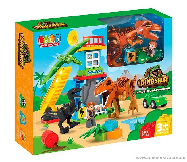 Конструктор JDLT 5409 Динозавры 43 крупные детали