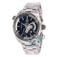 Часы наручные мужские кварцевые TAG Heuer Grand Carrera Calibre 36 RS Steel Silver-Black