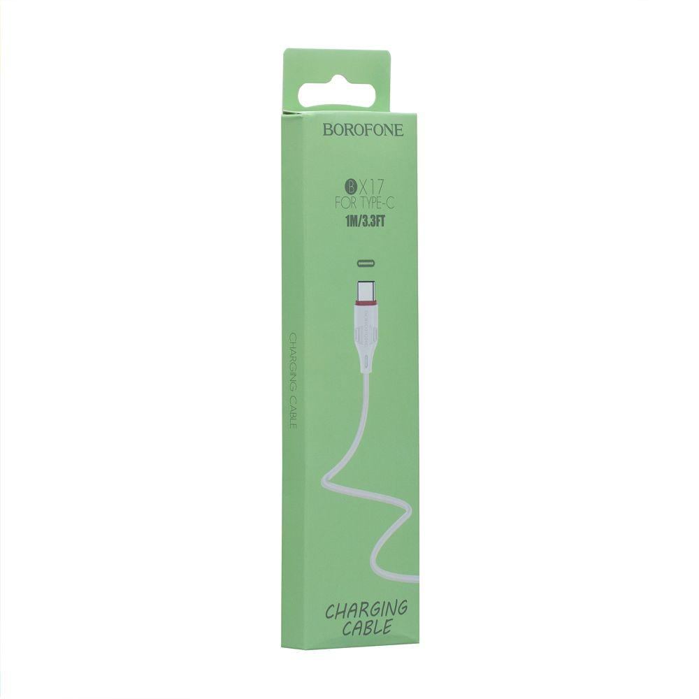 USB кабель Borofone BX17 Type-C (1м, белый)