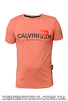 Футболка мужская CALVIN KLEIN 20-Y-8108 коралловая, фото 1