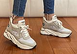Кросівки жіночі Inshoes бежеві, фото 3