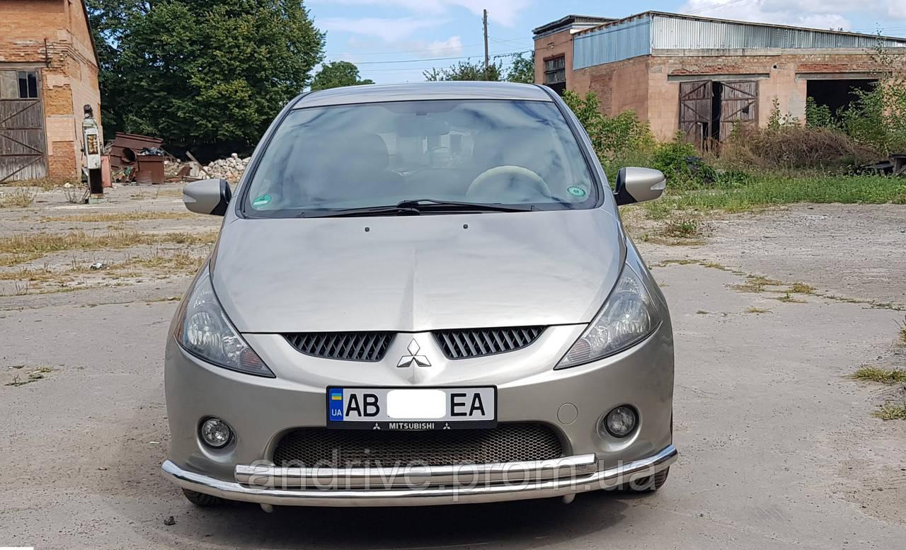 Защита переднего бампера (ус двойной) Mitsubishi Grandis 2003-2011