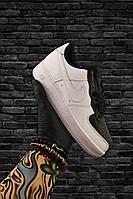 Женские кожаные кроссовки Nike Air Force 1 Low Split White Black