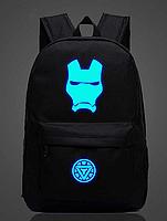 Светящийся городской рюкзак с usb зарядкой + замок. Рюкзак Железный человек с usb зарядкой + замок 35 л Чёрный