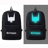 Светящийся городской рюкзак с usb зарядкой + замок. Рюкзак Бэтмен Чёрный
