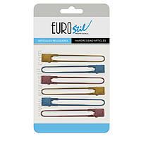 Зажим металлический цветной Eurostil 00803 (6 шт.)