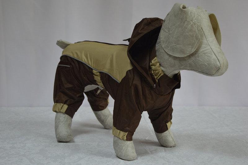 Комбинезон-дождевик для собаки на подкладке с капюшоном 72*116