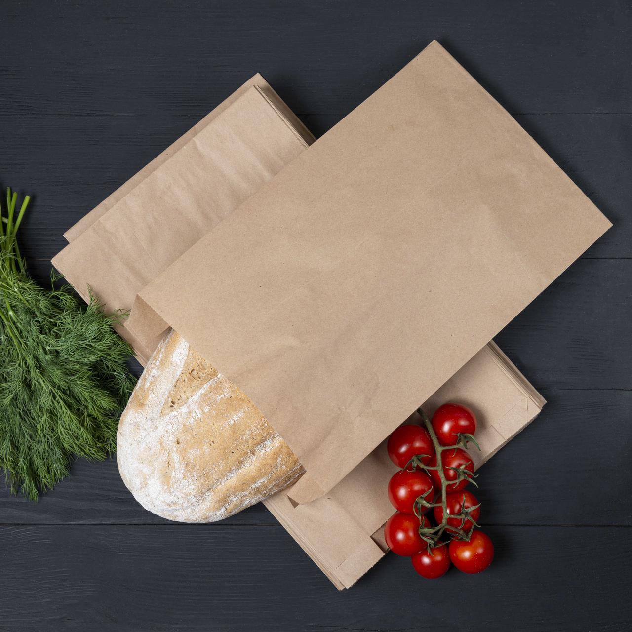 Бумажный крафт пакет саше 220*60*340 мм Пакеты бумажные для фасовки