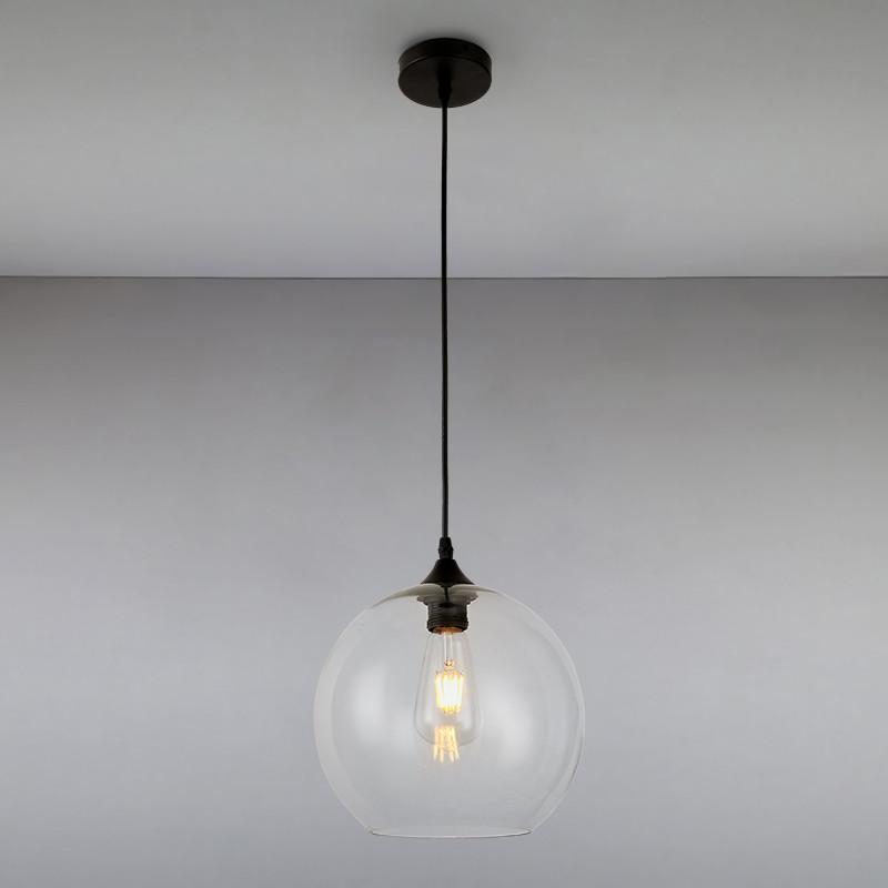 Люстра подвесная на одну лампу LS-814835-1 CL прозрачный плафон