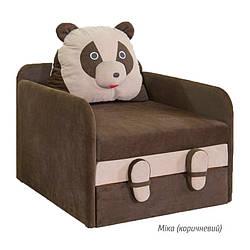 Детский раскладной диван Юниор Панда Мика (коричневый/бежевый) Мебель-сервис